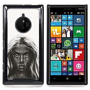 Dark Beauty - B&W Girl Caja protectora de pl¨¢stico duro Dise?ado King Case For Nokia Lumia 830