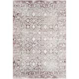 Safavieh Palermo Collection PLM850R Rose and Beige Area Rug, 4′ x 6′