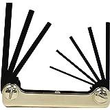 Chaveiro dobrável de aço clássico EKLIND 21172 chave allen – conjunto de 7 peças de tamanhos métricos MM 2-8