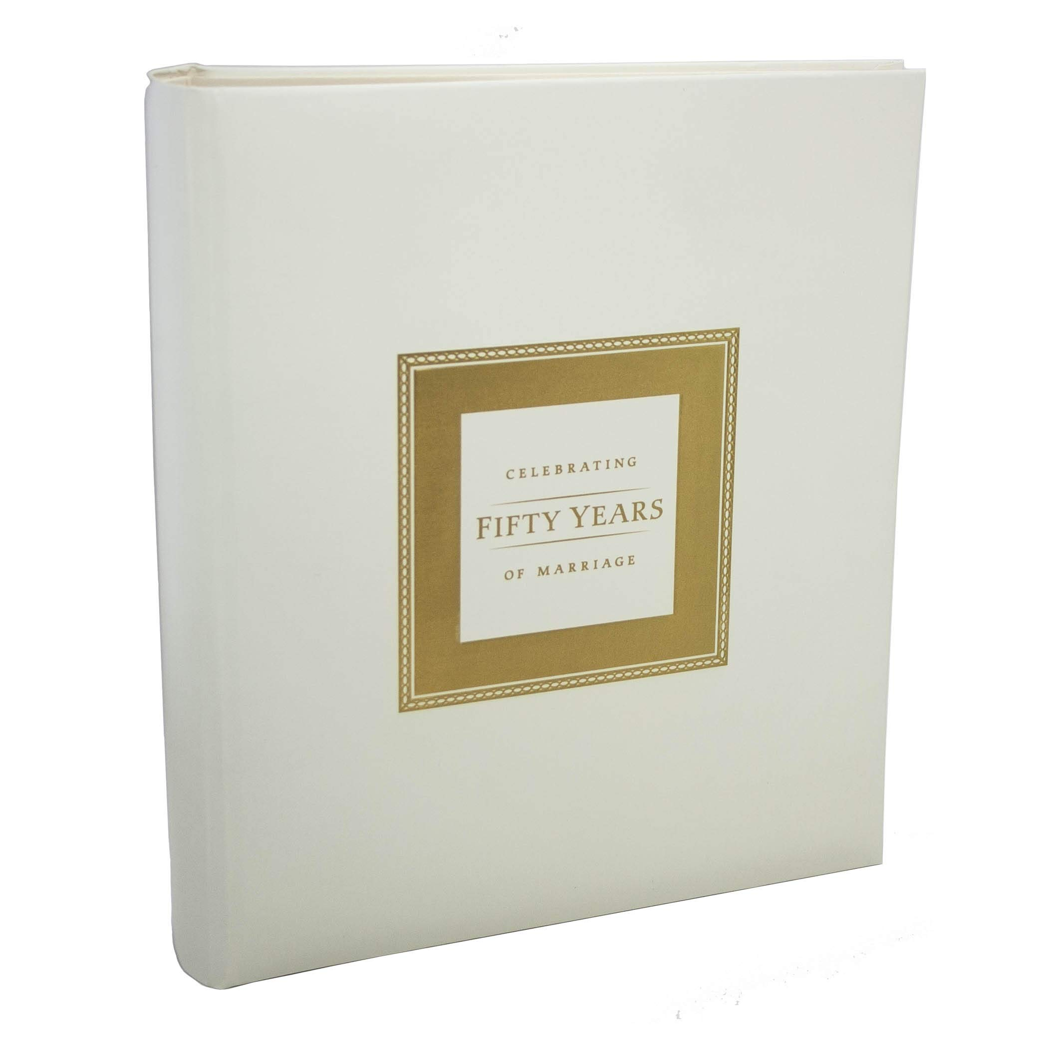 50th Anniversary Memory Book for 50th Wedding Anniversary Party by Jubilee Celebrations