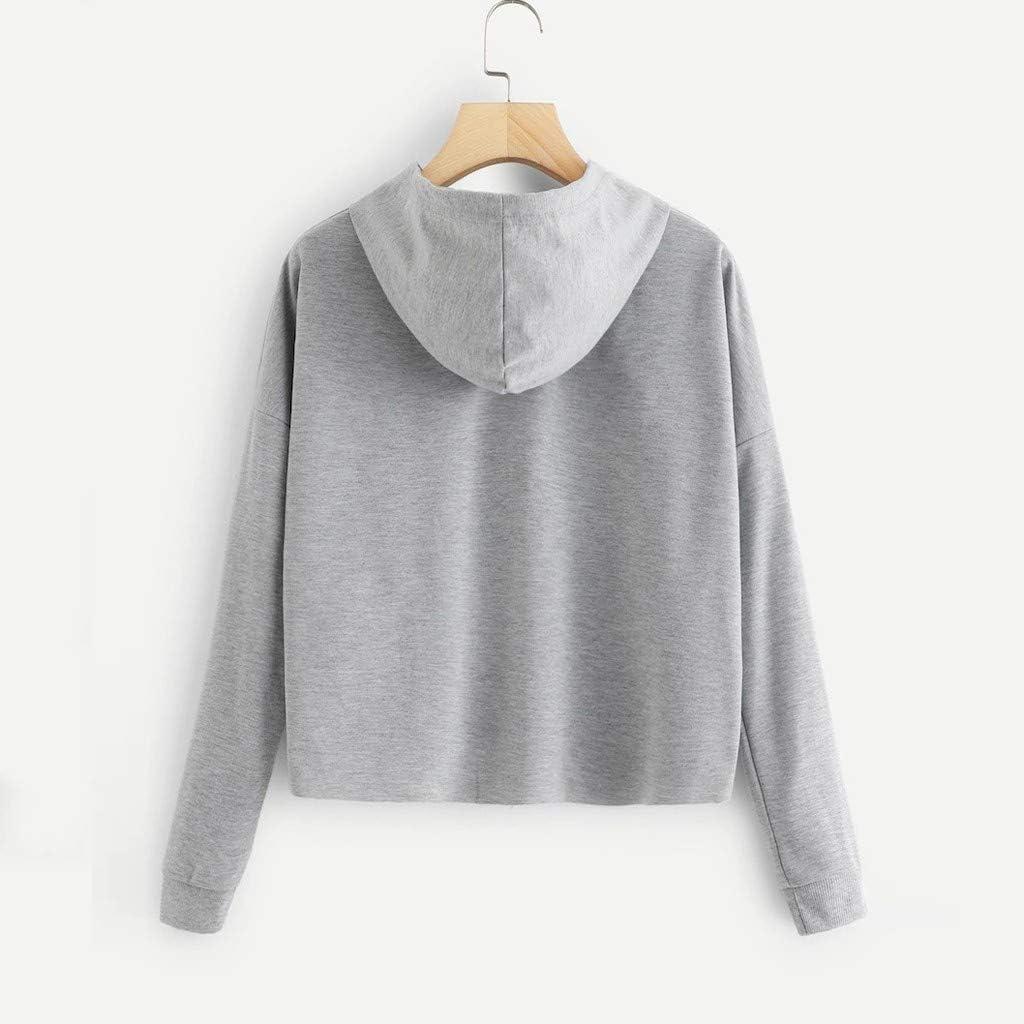 Ladies How You Doin Long Sleeve Pullover Sweatshirt XVSSAA Womens Letter Print Short Drawstring Hoodie Tops