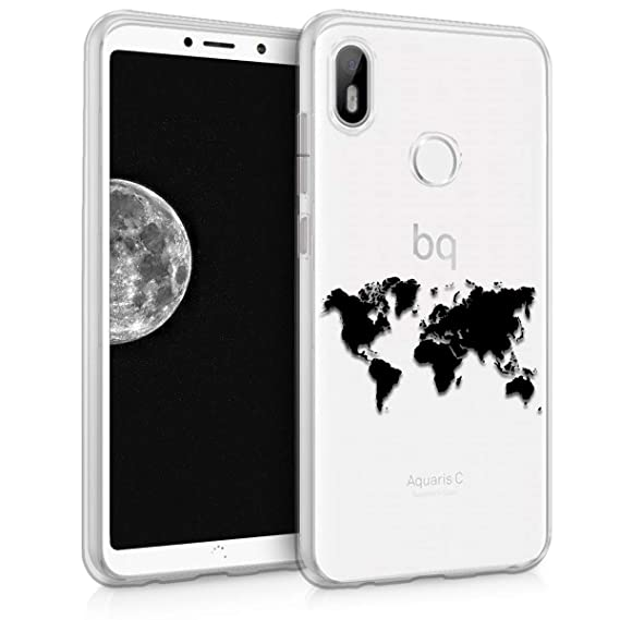Amazon.com: kwmobile TPU Silicone Case for bq Aquaris C ...