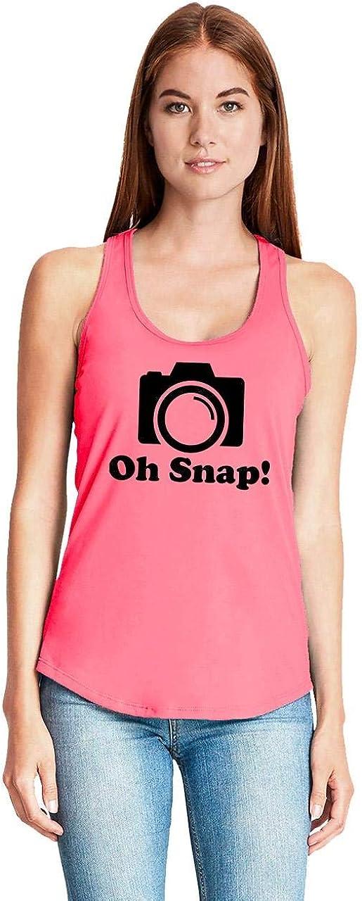 Funny Photographer Shirt Racerback Comical Shirt Ladies Oh Snap