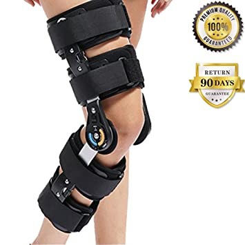 37eed05646 Image Unavailable. Image not available for. Color: Universal Hinged ROM  Knee Support Brace Orthosis for Knee Injury ...