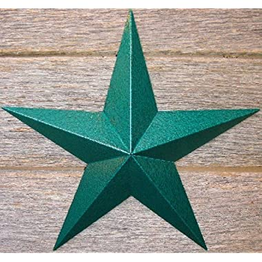 """40 Inch Heavy Duty Metal Barn Star Painted Hammered Green. The Hammered Paint Effect Allows the Star to Look Great in Either a Contemporary or Rustic Theme. This Tin Barn Star Measures Approximately 40"""" From Point to Point (Left to Right). The Barnstar Is Hand Crafted Out of 22 Gauge Galvanized Steel By the Old Order Amish From Central Ohio. This Size Star Will Arrive in 5 Separate Wings (One Tagged on the Back for Easy Hanging) and Will Require Quick and Easy Assembly. The Screws Are Provided and Painted to Match so They Are Not Easily Noticeable. The Benefit of Galvanized Metal Is No Rust or Unsightly Stains Down the Side of Your Wall. Decorate Your Mantel, House, or Barn. Our Amish Wares Stars Have Appeared on Many Popular Tv Shows and Commercials and Are of High Quality! Decorate with a Classy Star That Is Quickly Becoming a Must Have for Every Home. It Has Been Said That the Stars Represent Good Luck and Good Fortune. A Star Is the Perfect Way to Show Your Spirit and Love for This Country As It Is Made in the Usa! A Metal Tin Barn Star Makes a Great Gift!"""