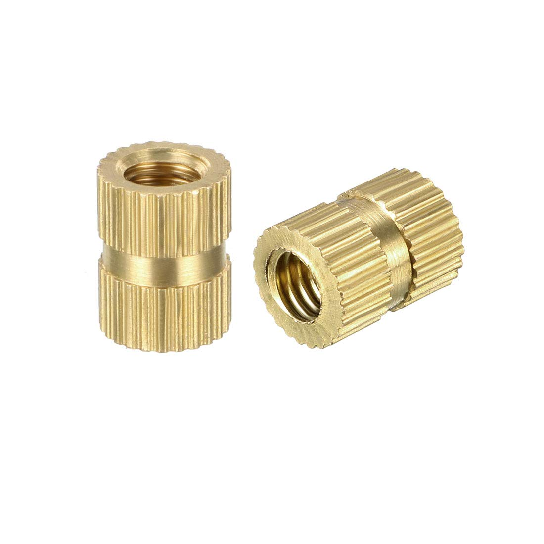 x 5.4mm L Female Thread Brass Embedment Nuts sourcing map Knurled Threaded Insert Pack of 150 OD M3 x 5mm