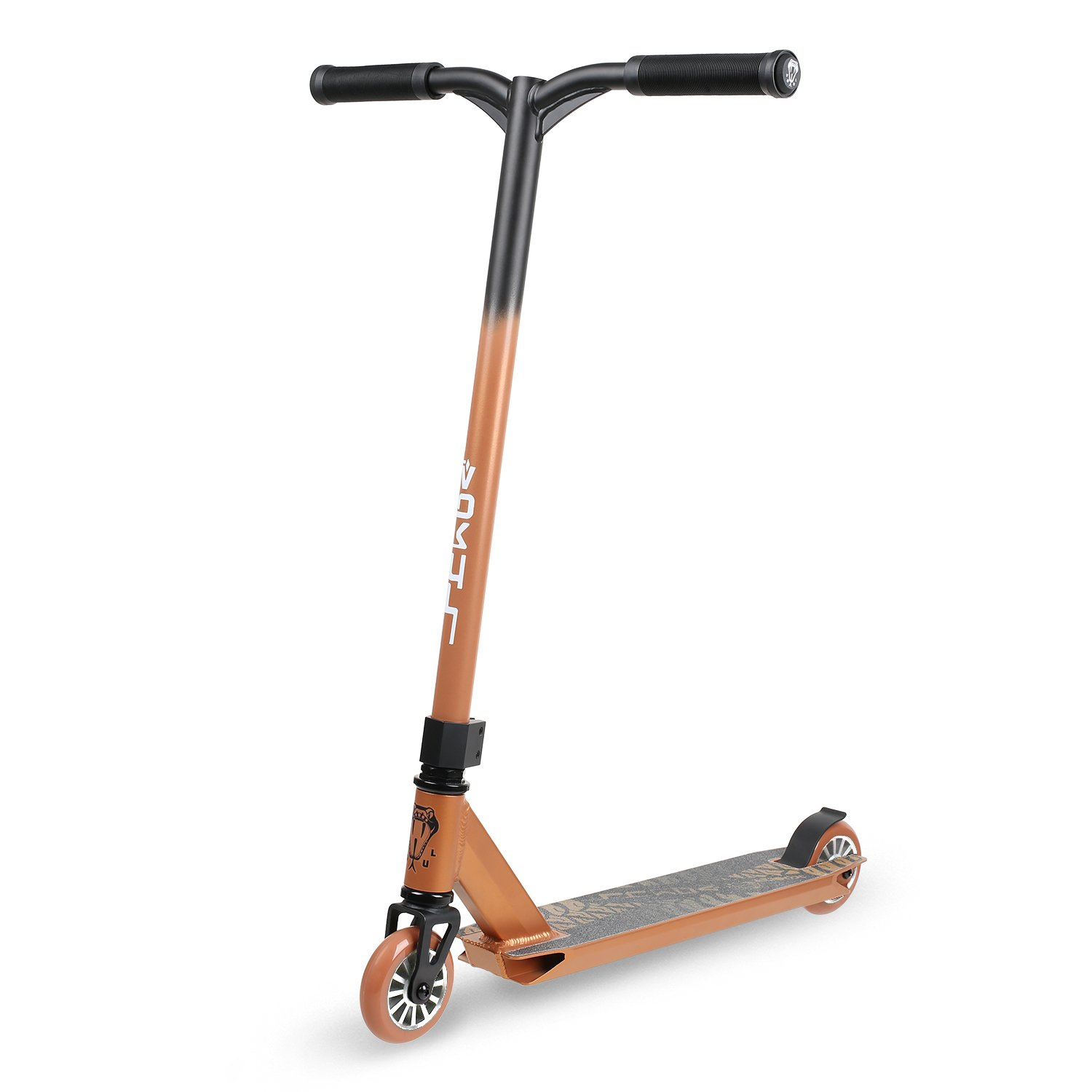 Vokul TRII S Freestyle Tricks Pro Stunt Scooter - Best Entry Level Pro Scooter - 20 W23.2 H CrMo4130 Chromoly Handlebar - Reinforced 20 L4.1 W Deck, Integral Stable Performance TRII S1