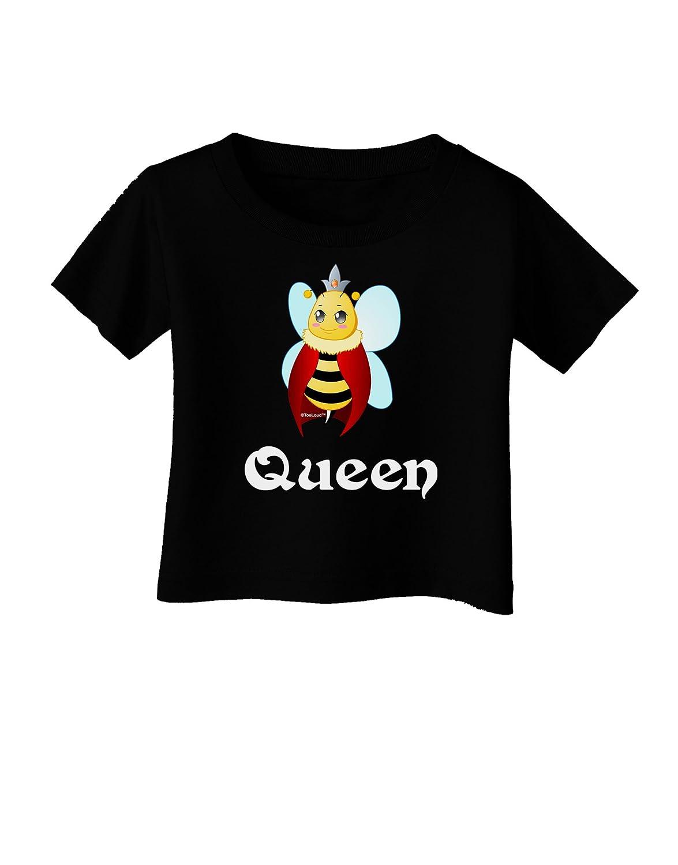 TooLoud Queen Bee Text 2 Infant T-Shirt Dark