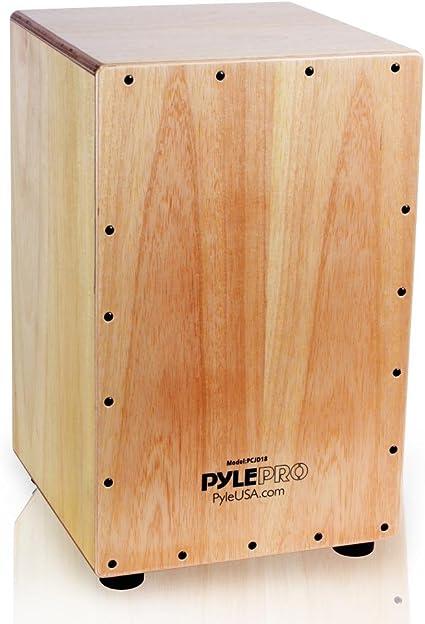 Pyle cadena cajón – Caja de percusión de madera, con interior cuerdas para guitarra, tamaño mediano (pcjd18): Amazon.es: Instrumentos musicales