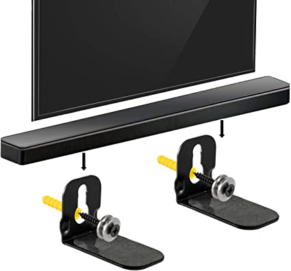 Amazon Com Wall Mount Bracket Compatible With Samsung Hw R450 Sound Bar Easy To Install Speaker Wallmount Kit Includes Mounting Hardware Kit To Hang Your Soundbar Home Audio Theater