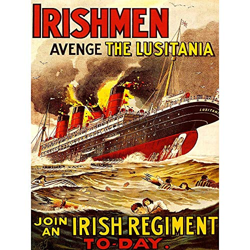 Wee Blue Coo Propaganda War WWI UK Irish Men Lusitania Unframed Wall Art Print Poster Home Decor Premium