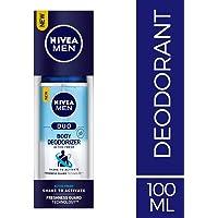 NIVEA MEN Body Deodorizers, Duo Active Fresh, Gas Free,100ml