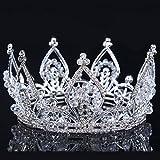 Superhai European Luxury Rhinestones Noble Bride Wedding Tiara Crystal Crown Bridal Headdress Crown