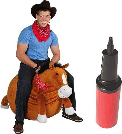 Mr Jones Adult Size Plush Horse Hop Ball Hopper
