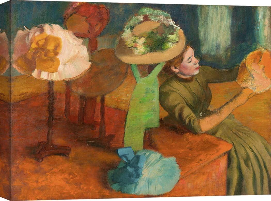 Art Print Cafe – Cuadro – Impresion sobre Lienzo - Edgar Degas, The Millinery Shop – 100x70 cm