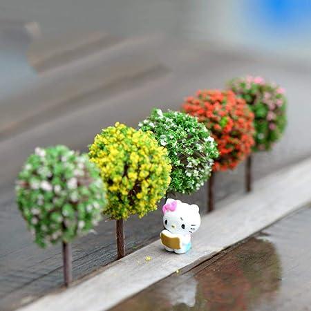 NIAN 5PCS Mini Decoraciones de jardín Resina Árbol de Hadas Terrario de jardín Figuras Figuras de Hadas en Miniatura Miniaturas Árboles Decoración de jardín: Amazon.es: Hogar