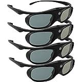 DLP Link 3D Glasses, ELEPHAS 144Hz Rechargeable Active Shutter Eyewear for All DLP-Link 3D Projectors- Acer, ViewSonic, BenQ