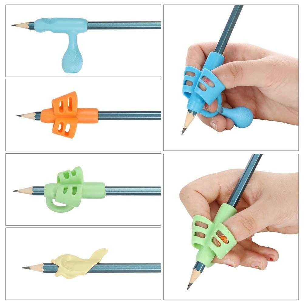 Yorgewd herramientas de correcci/ón de postura para ni/ños necesidades especiales Juego de 13 agarres para l/ápices para escritura a mano para ni/ños