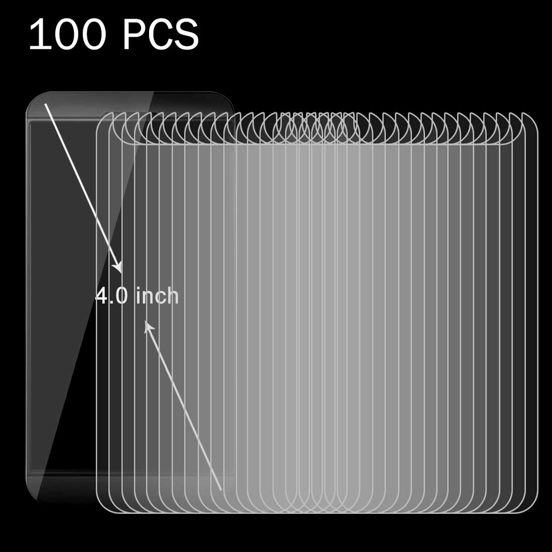 iPartsBuy Tempered Glass Film 100 PCS 4.0 inch Mobile Phone 0.26mm 9H Surface Hardness 2.5D Explosion-Proof Tempered Glass Screen Film