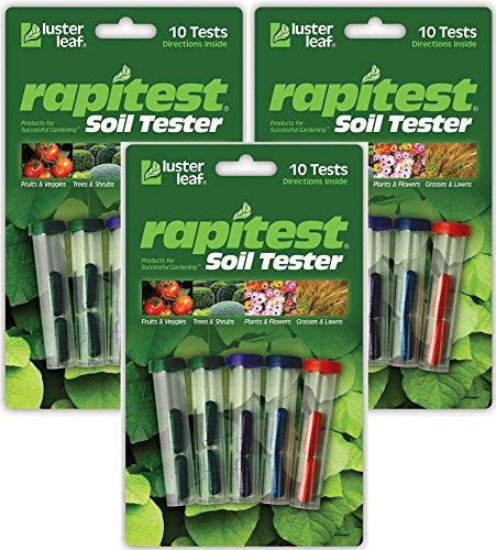 (Luster Leaf Pack of 3 Rapitest Soil Testers)
