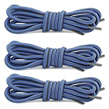Women's DailyShoes Round Camping and Hiking Boot Shoelaces - 3 PAIRS