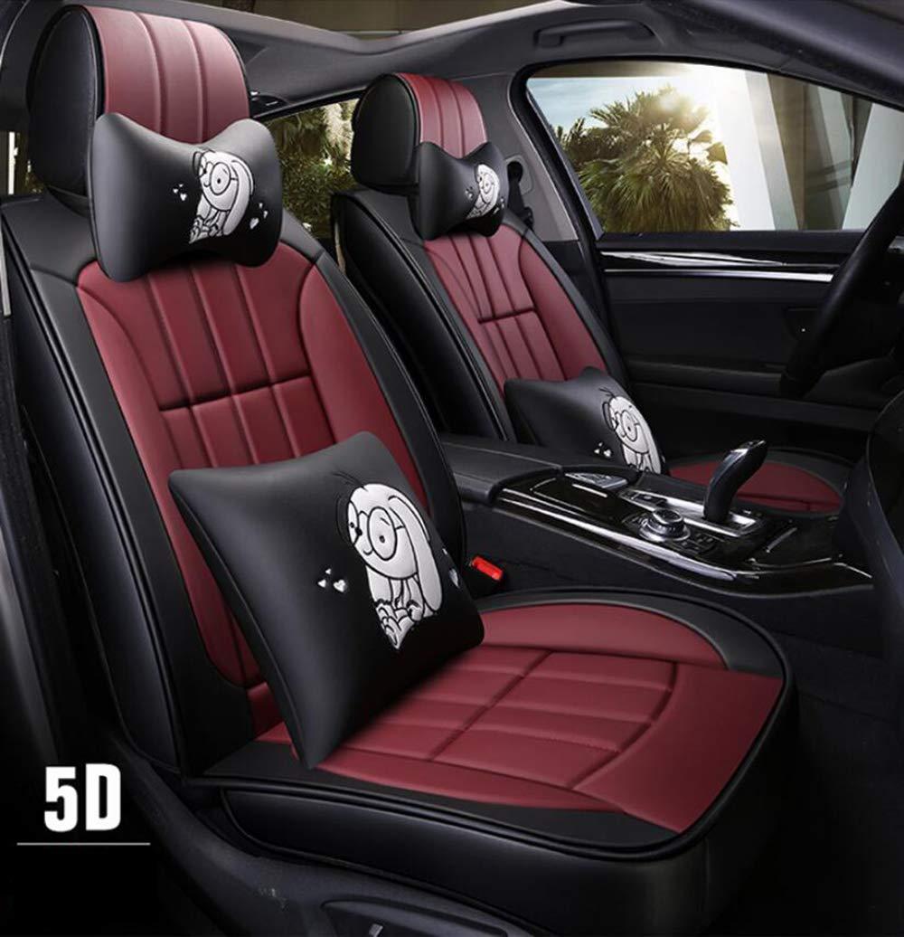 Vios Camry Fit Crown Land Cruiser Highlander Reiz RAV4,Beige,RAV4 Prado HRFHLHY Housse de si/ège Auto en Cuir PU Compatible avec Les s/éries Toyota: Corolla