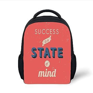 Amazon.com  iPrint Kids School Backpack Quotes Decor 149260d740bce