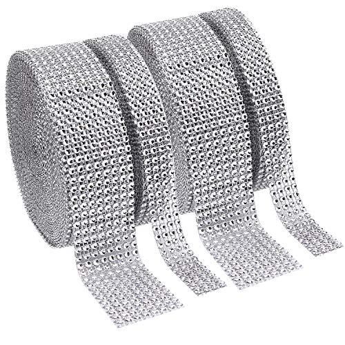 Livder Acrylic Rhinestone Shiny Diamond Ribbon for Wedding, Cakes, DIY Decorative Arts and Crafts Projects