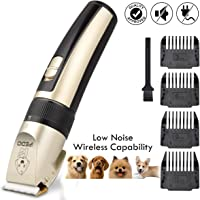 iFedio Rechargeable Electric Cordless Low Noise Pet Grooming Kit