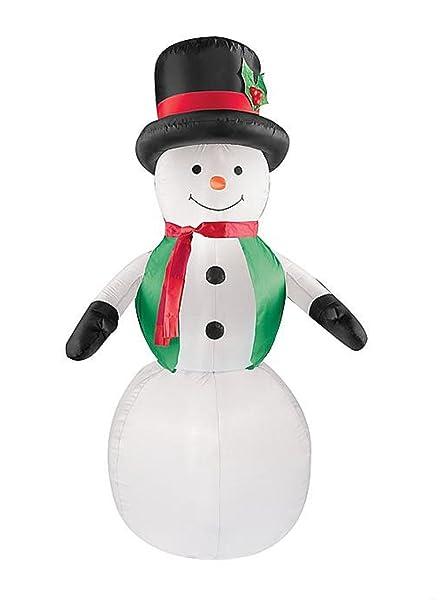 Amazon.com: Navidad muñeco de nieve w/verde chaleco ...