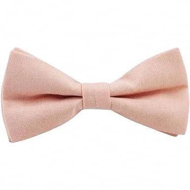 37530ba7f5bc Vintage Wedding Blush Pink Peach Cotton Pre-tied Bow Tie  Amazon.co.uk   Clothing