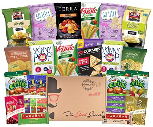 Gluten Free and Vegan Healthy Snacks Care Package (27 Pack)