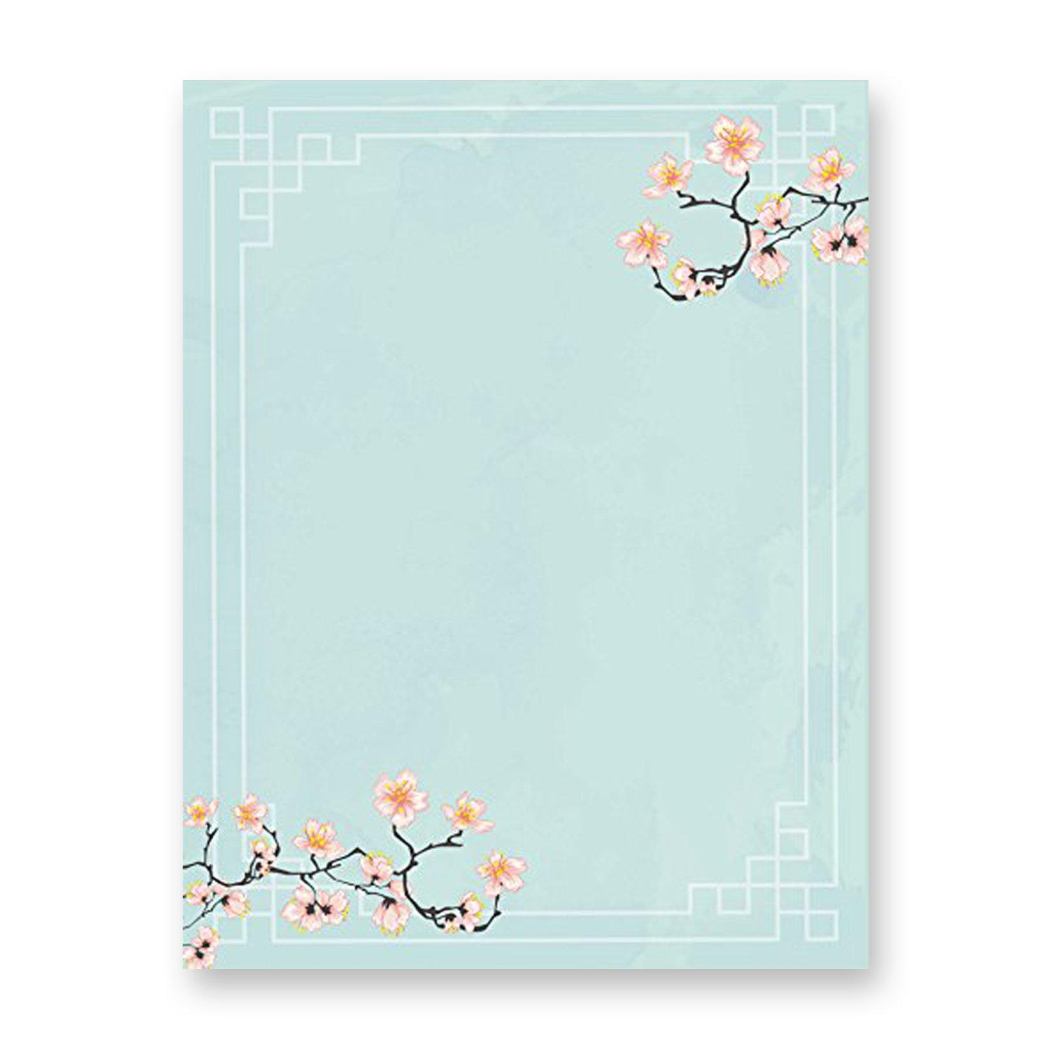 photo regarding Printable Stationeries called 100 Stationery Crafting Paper, with Lovely Floral Ideas Fantastic for Notes or Letter Crafting - Cherry Blossoms