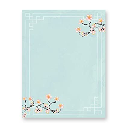 Amazon 100 stationery writing paper with cute floral designs 100 stationery writing paper with cute floral designs perfect for notes or letter writing mightylinksfo