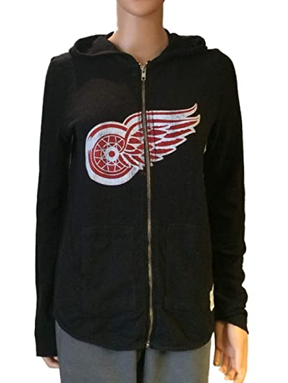 best cheap 703ec aeef0 Amazon.com : Retro Detroit Red Wings Brand Women Black Quad ...
