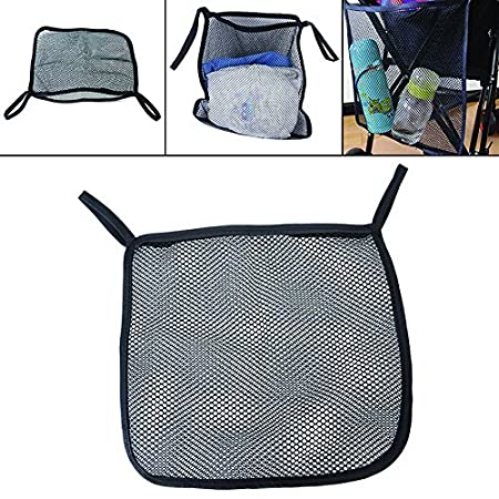 Stroller Attachable Organizer Carrying Bag Black with Multicolors Edge 2 Pack Umbrella Baby Stroller Accessories Charis Kid Mesh Stroller Bag