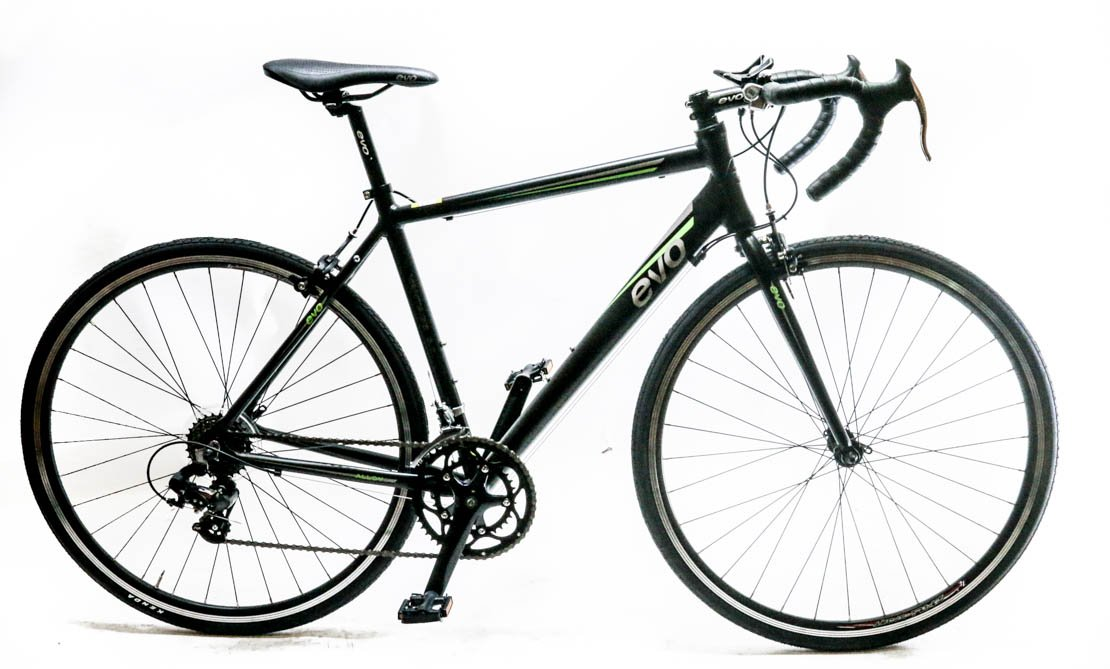 EVO Vantage 5.0 Mサイズ52 cmアルミロードバイク700 C Shimano 2 X 7速度ブラック新しい B01LZB8PMK
