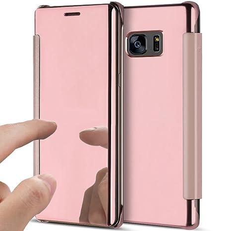 YSIMEE Funda Samsung Galaxy Note 5,Carcasa Clear View Cover ...