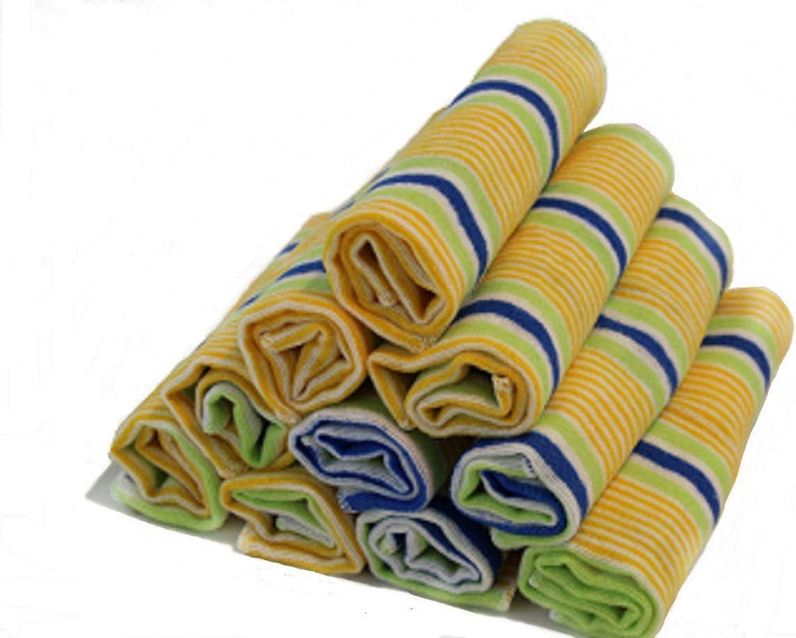 Gluecksshop Pa/ños para el Polvo 10 Unidades, 30 x 35 cm, no Deja Pelusas, Suaves y Antideslizantes, 70/% algod/ón