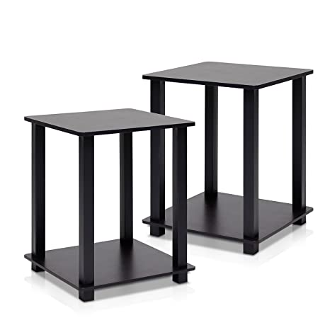 cheap for discount b70d2 9cc2d Furinno 12127EX/BK Simplistic End Table, Espresso/Black