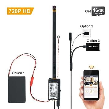 TEKMAGIC 16 GB 720P HD micro cámara espía inalámbrica Wifi grabador de vigilancia a distancia sobre