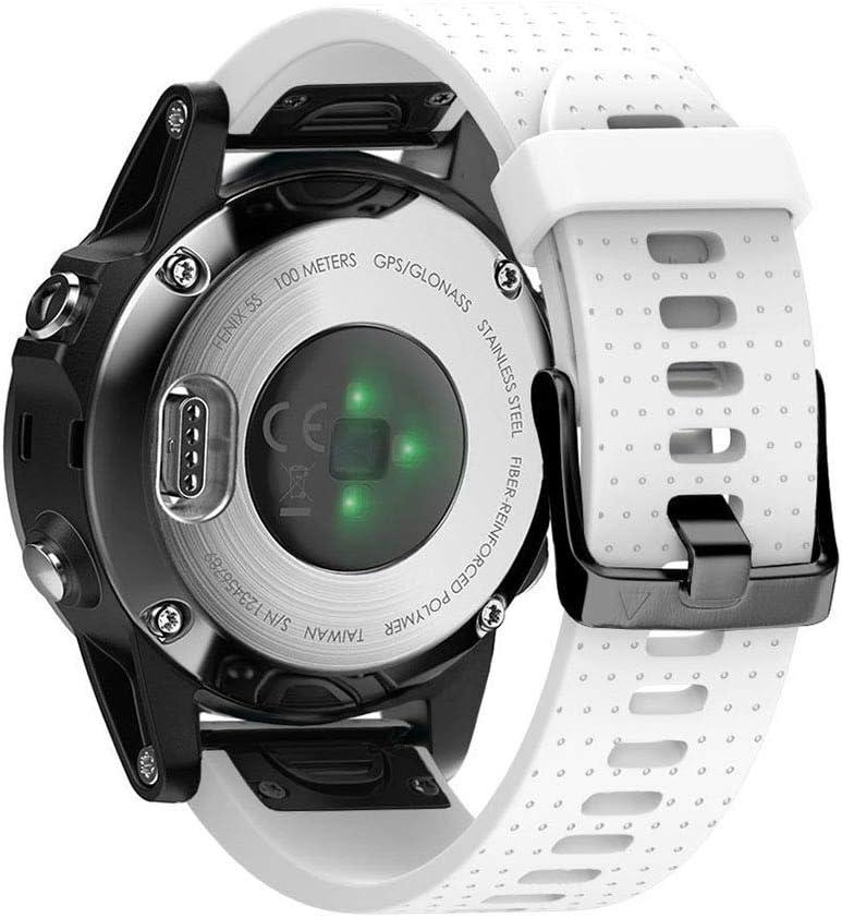 Notocity Armband Für Garmin Fenix 5s Fenix 5s Plus Fenix 6s Fenix6s Pro 20mm Breite Silikon Quick Fit Uhrenarmband Mehrfache Farben Weiss Elektronik