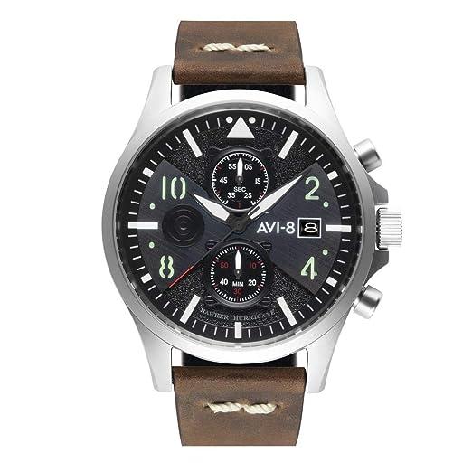 Reloj AVI-8 Hawker Hurricane con Esfera Negra - AV-4068-01: Amazon.es: Relojes