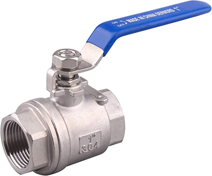 1//4 Inch Ball Valve and Gas Oil DERNORD Stainless Steel Ball Valve 1PC Type 0.25 NPT Standard Port for Water