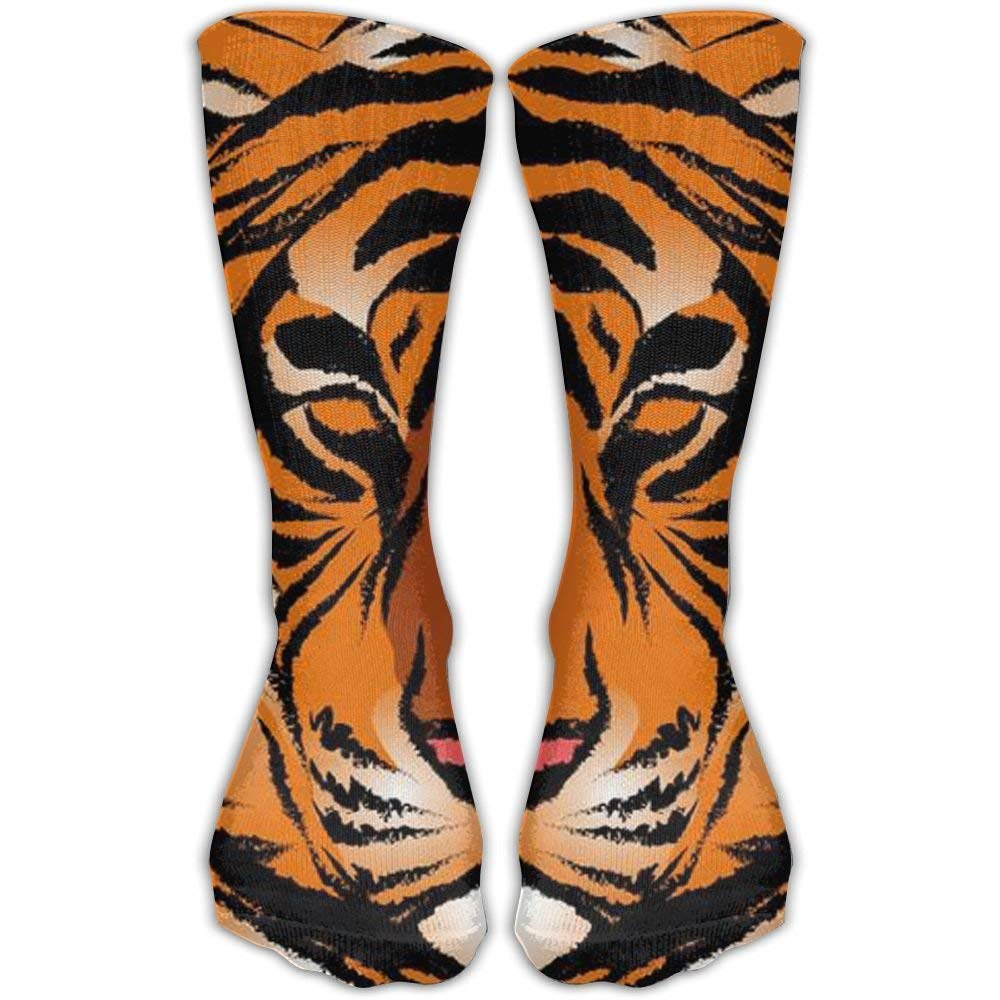 Striped Bengal Tiger Outdoor Performance Work Crew Socks