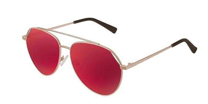 HAWKERS · BLUEJAY · Gold · Red · Gafas de sol para hombre y mujer: Amazon.es: Ropa y accesorios