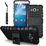 Accessories Collection Samsung Galaxy Grand Prime G530 - Stylish Hard Back Armor Shock Proof Case with Back Stand Feature & Free Screen Protector