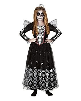 Horror-Shop Miss Esqueleto Niño Vestido De Disfraces L: Amazon.es ...