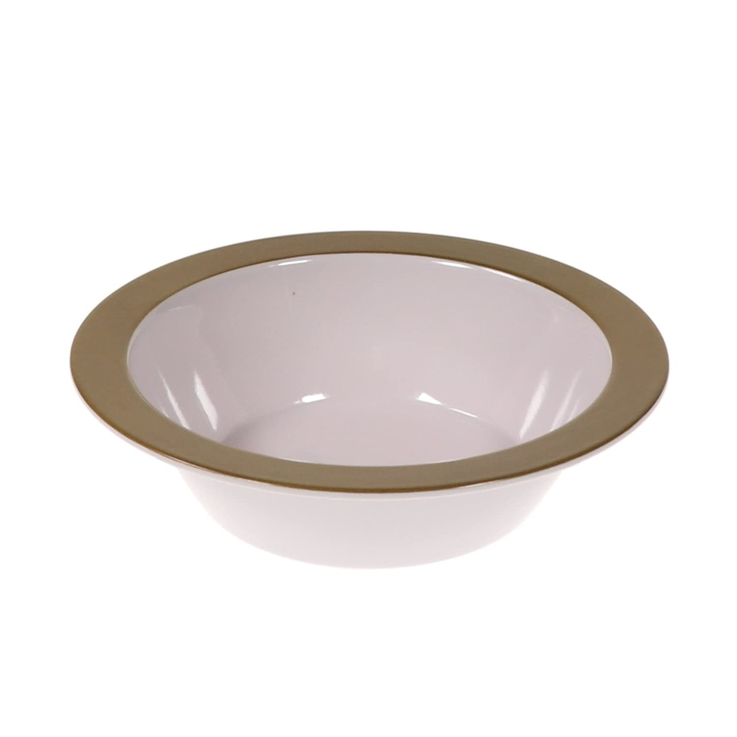8.5 Salad Plate, Gold Classic Wide Rim Design Great Paper Plate Replacement! Indoor//Outdoor Reusable Dinnerware by Unity Handi-Ware 12-Piece Party Bulk Pack Signature Melamine Blend Set