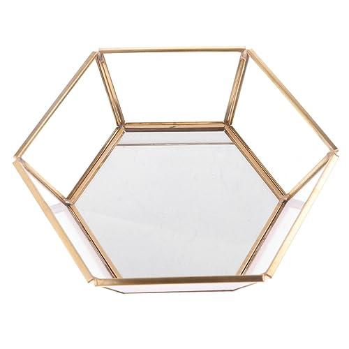 IPOTCH Hexagonal Transparente Vidrio Caja Joya Hacendadao Fovores de Casamiento Cajas: Amazon.es: Joyería